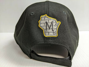 Milwaukee Brewers Cap New Era 9Forty Adjustable The League Black Hat NFL