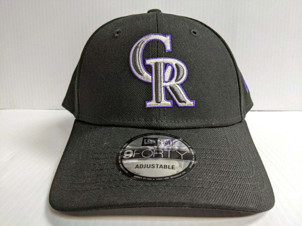 Colorado Rockies Cap New Era 9Forty Adjustable The League Black Hat NFL