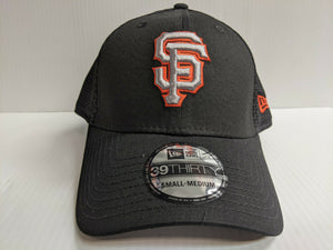San Francisco Giants Cap New Era 39Thirty Stretch Fit Black Team Neo Hat MLB