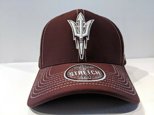 Arizona State Sun Devils Cap Zephyr Aperature Stretch Fit Fitted Hat NCAA
