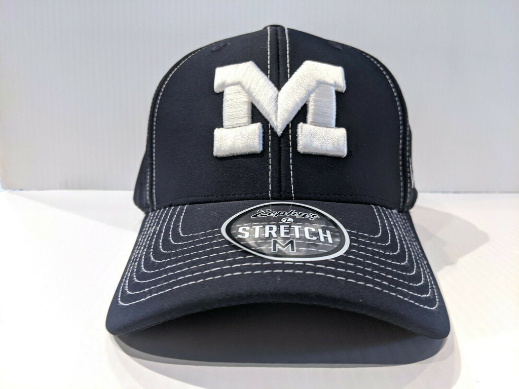 Michigan Wolverines Cap Zephyr Aperature Stretch Fit Fitted Hat NCAA