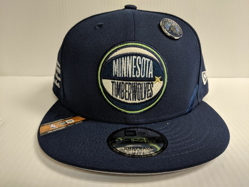 Minnesota Timberwolves Snapback Cap New Era 9Fifty Flat Brim 2019 NBA Draft Day