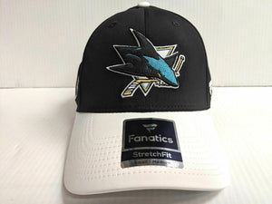 San Jose Sharks Cap Iconic Tech Speed Stretch Fit Fitted Hat NHL
