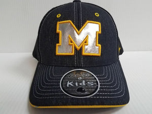 YOUTH Michigan Wolverines Cap Zephyr Stretch Fit Fitted Mesh Headlight Foil Hat