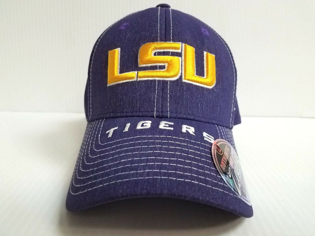 LSU Tigers Cap Zephyr Stretch Fit Fitted Center Court Heathered Hat
