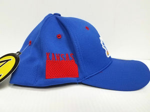 Kansas Jayhawks Cap Zephyr Stretch Fit Fitted Stateside Hat NCAA