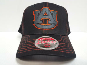 Auburn Tigers Cap Zephyr Snapback Staple Trucker Blackout Mesh Hat