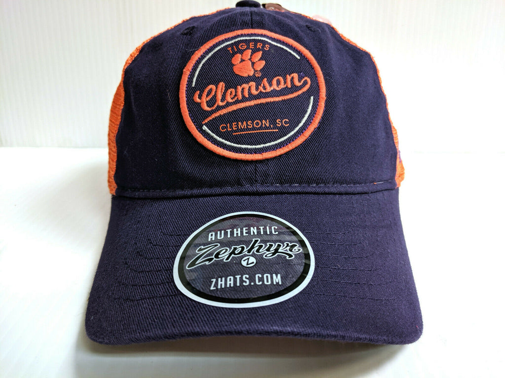 Clemson Tigers Cap Zephyr Adjustable Lager Trucker Mesh Dad Hat