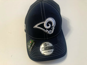 Los Angeles Rams Cap Era 39Thirty Stretch Fit Navy 2019 Road Sideline Hat