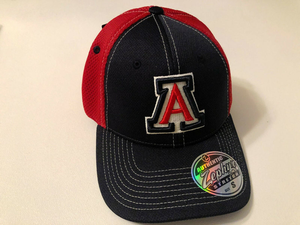 Arizona Wildcats Cap Zephyr Blue Pregame 2 Mesh Stretch Fit Fitted Hat
