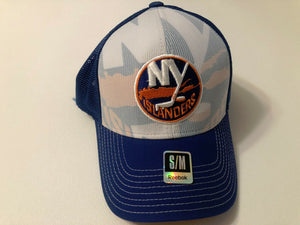 New York Islanders Reebok NHL Mesh Structured Flex Stretch Fit Fitted Hat