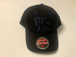 Kentucky Wildcats Cap Zephyr Adjustable Snapback Black Hat