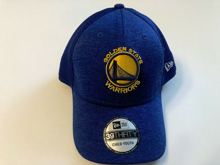 YOUTHGolden Statev Warrior Cap New Era 39Thirty Stretch Fit Shadow Front Hat NBA