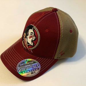 Florida State Seminoles Cap Zephyr Blue Pregame 2 Mesh Stretch Fit Fitted Hat