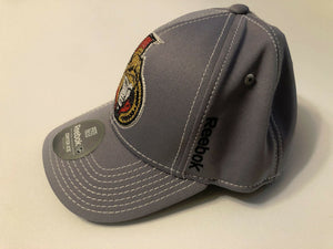 Ottawa Senators Reebok NHL Center Ice Stretch Fit Gray Hat