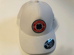 Black Clover Cap Anniversary Patch #6 White Adjustable Golf Hat Live Lucky