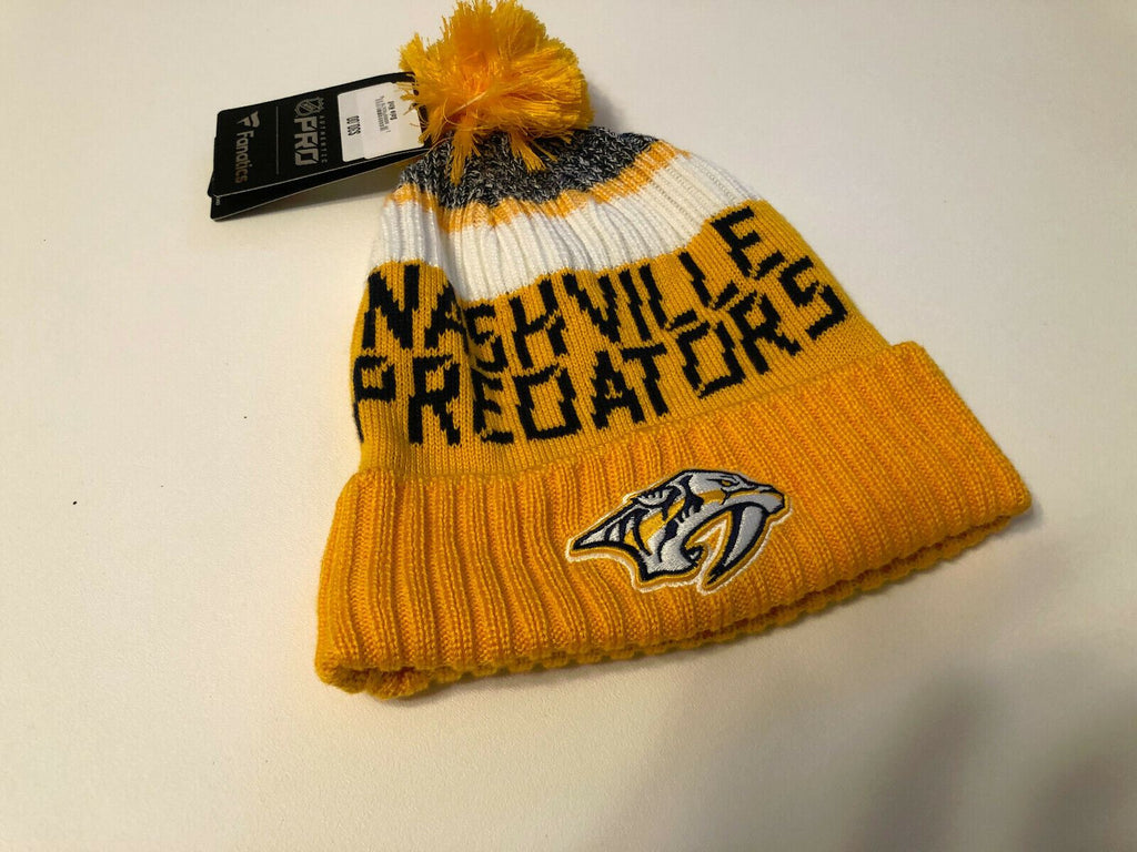 Nashville Predators Knit Hat 2019 Authentic Pro Goalie Pom Stocking Cap NHL