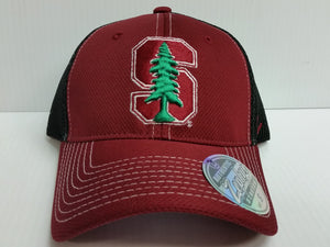 Stanford Cardinal Cap Zephyr Stretch Fit Fitted Rally 2 Mesh Hat NCAA