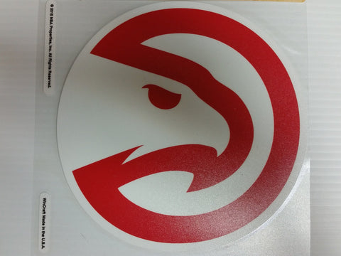 Atlanta Hawks Colored Window Die Cut Decal Wincraft Red Sticker 8x8 NBA