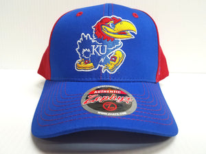 Kansas Jayhawks Cap Zephyr Adjustable Snapback Staple Hat NCAA