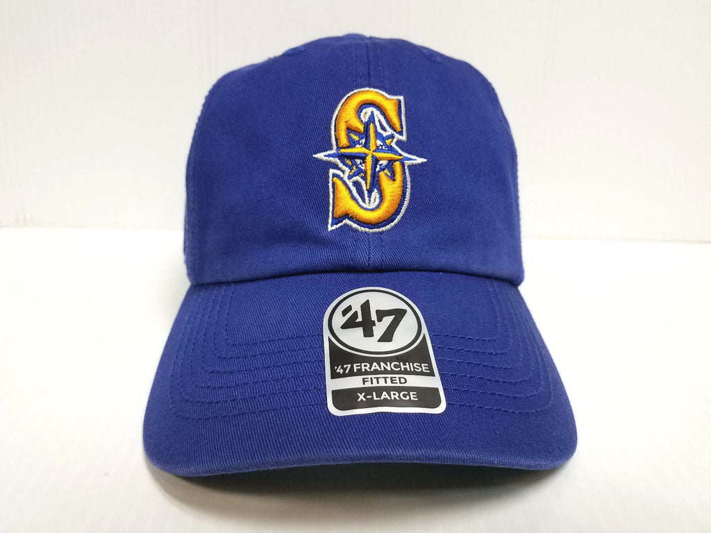 Seattle Mariners New Franchise '47 Brand Fitted Cap Unstructured Alternate Hat