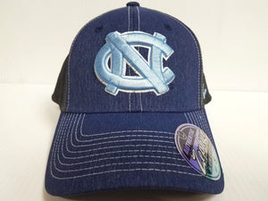 North Carolina Tar Heels Cap Zephyr Stretch Fit Fitted Heathered Dusk Hat NCAA