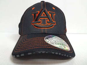 Auburn Tigers Cap Zephyr Stretch Fit Fitted Black Mesh Undertaker Hat