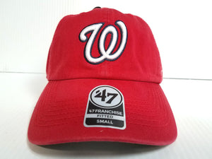 Washington Nationals New Franchise '47 Brand Fitted Cap Unstructured Red Hat MLB