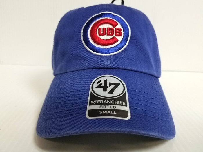 Chicago Cubs New Franchise '47 Brand Fitted Cap Unstructured Blue Hat MLB