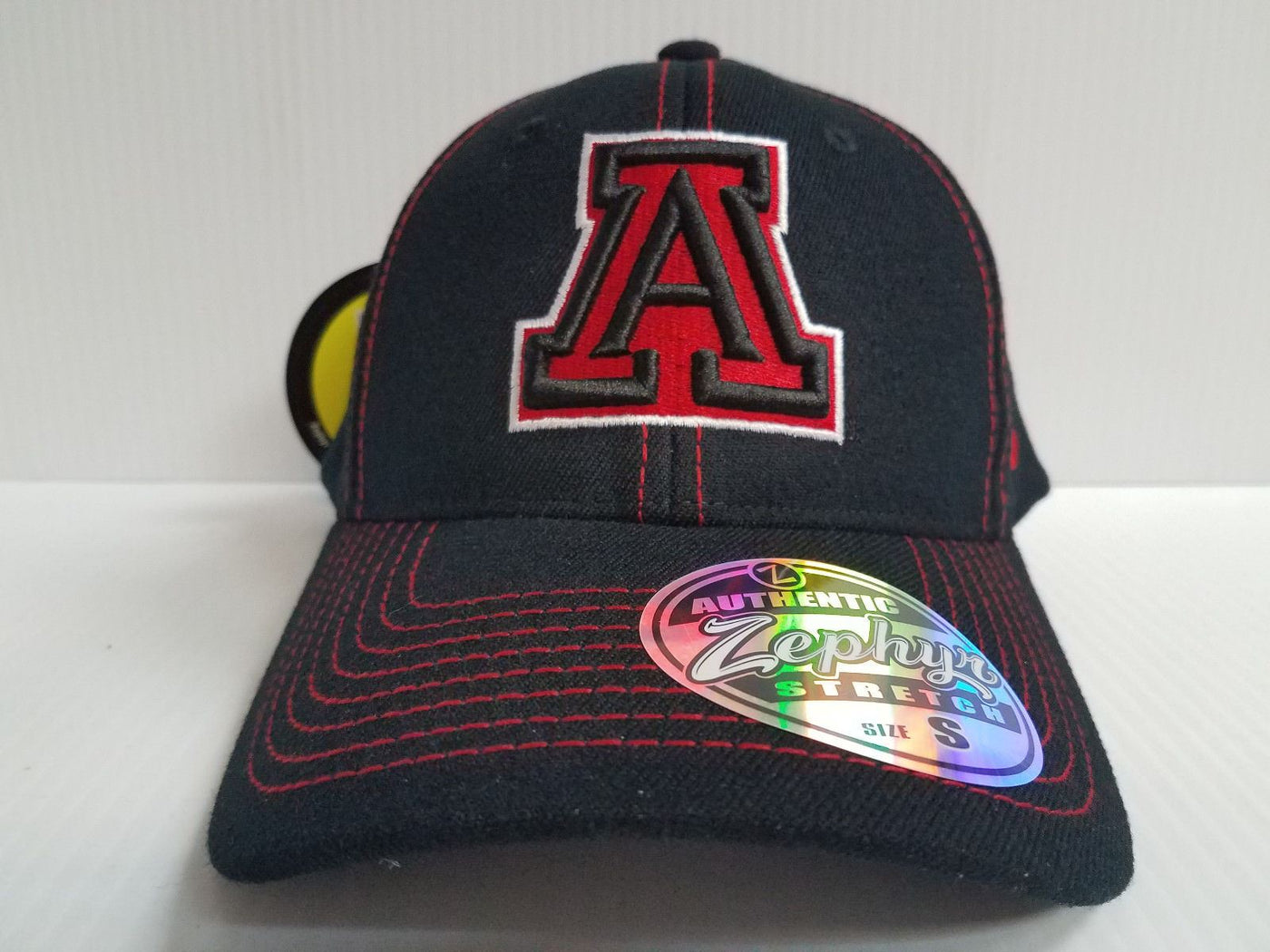 promo code 12b02 6ca54 ... czech arizona wildcats cap zephyr stretch fit fitted black finisher hat  ncaa sports city hats ddedc