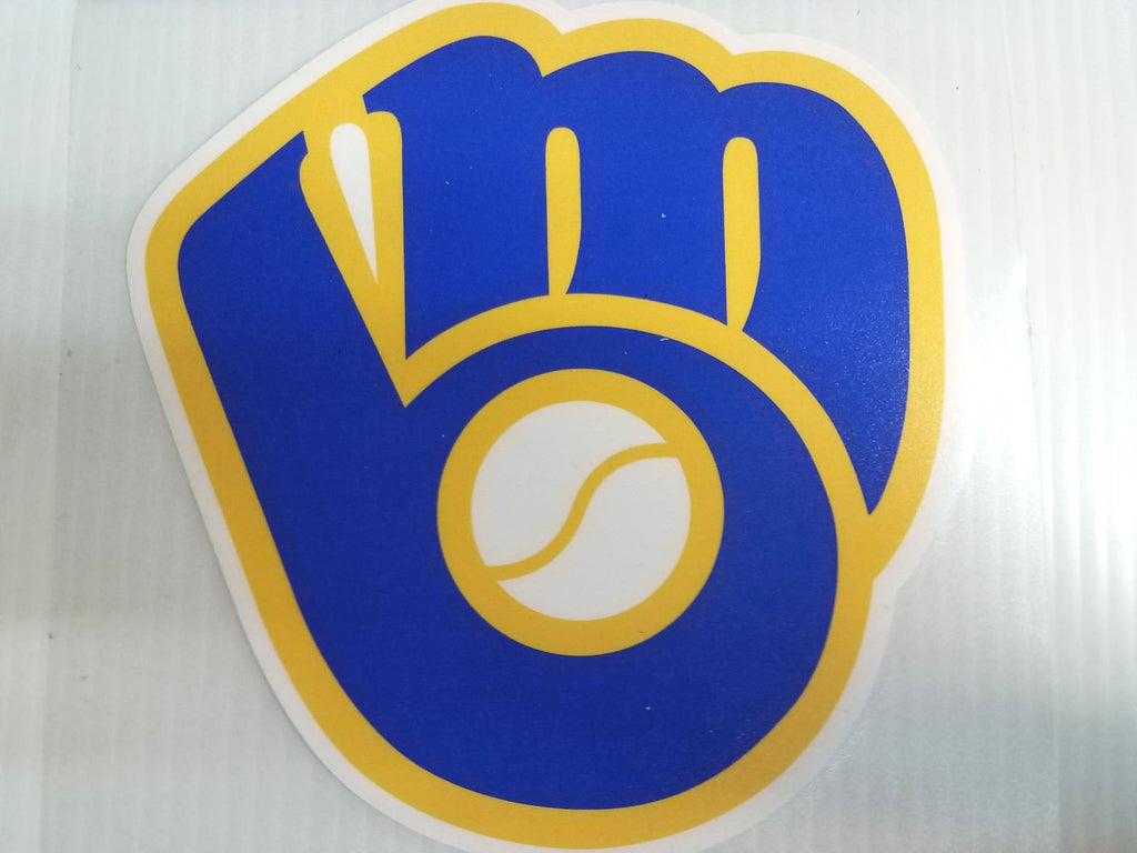 Milwaukee Brewers Colored Window Die Cut Decal Wincraft Sticker 8x8 MLB