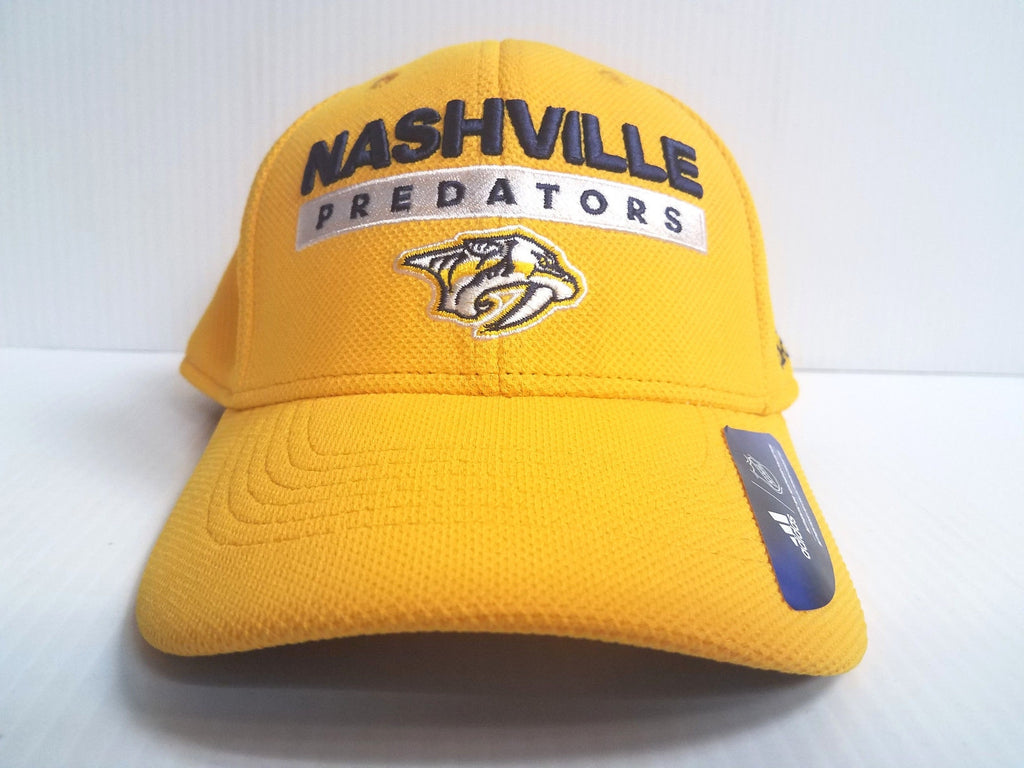 Nashville Predators Adidas Cap Official NHL Hockey Stretch Fit Fitted Hat