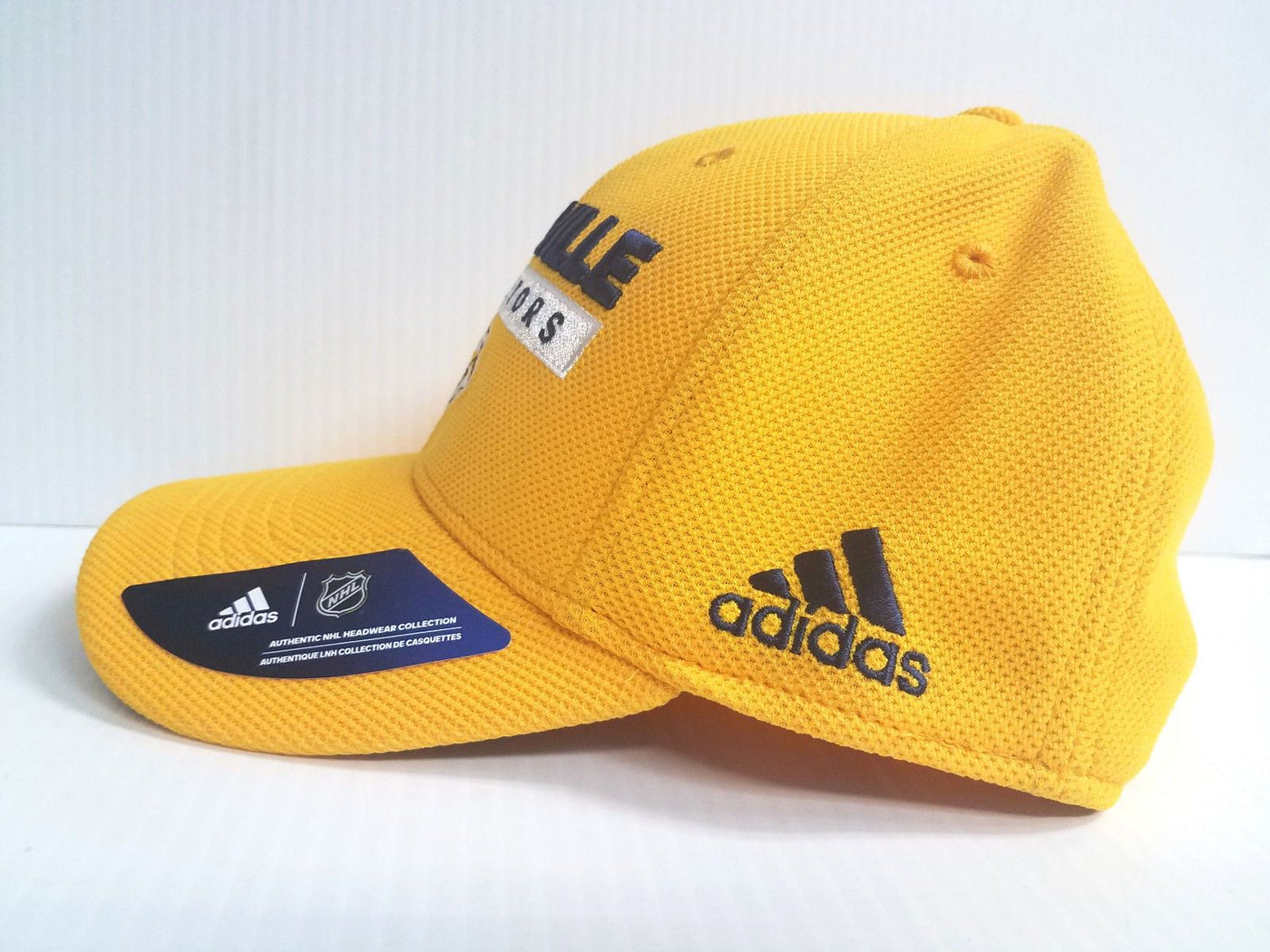 c6ab42a7f64 Nashville Predators Adidas Cap Official NHL Hockey Stretch Fit Fitted Hat