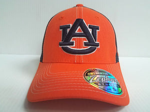 Auburn Tigers Cap Zephyr Stretch Fit Fitted Heathered Clash Hat NCAA