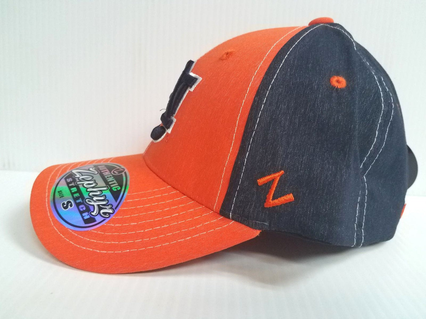 low priced 82e71 48138 Auburn Tigers Cap Zephyr Stretch Fit Fitted Heathered Clash Hat NCAA