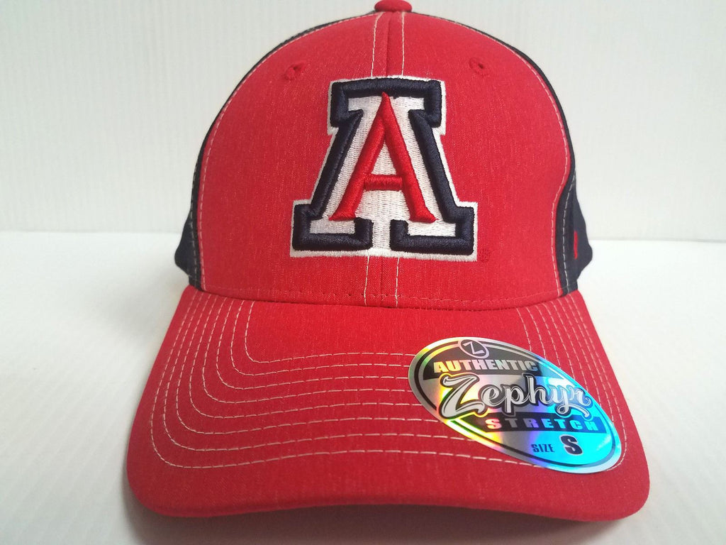 Arizona Wildcats Cap Zephyr Stretch Fit Fitted Heathered Clash Hat NCAA