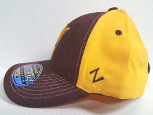Arizona State Sun Devils Cap Zephyr Stretch Fit Fitted Heathered Clash Hat NCAA