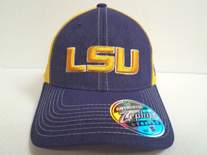 LSU Tigers Cap Zephyr Stretch Fit Fitted Heathered Clash Hat NCAA