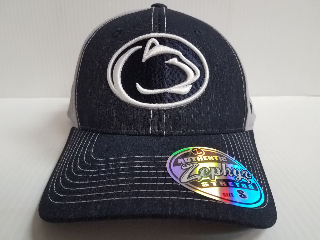 Penn State Nittany Lions Cap Zephyr Stretch Fit Fitted Heathered Clash Hat  NCAA a87018be1db0