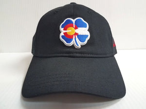 Black Clover Cap BC Style Colorado #2 Luck Adjustable Black Golf Hat Live Lucky