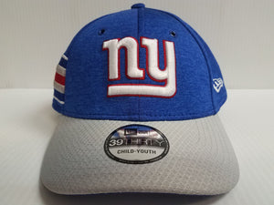 YOUTH New York Giants Cap New Era 39Thirty Stretch Fit 2018 Home Sideline Hat