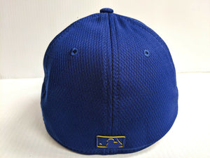 Milwaukee Brewers Cap New Era 39Thirty Stretch Fit 2019 Blue Clubhouse Hat MLB