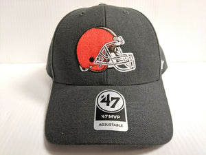 Cleveland Browns 47 Brand Cap Hook & Loop Adjustable Gray MVP Hat NFL