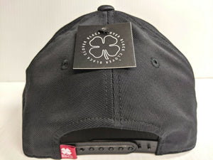 Black Clover Cap USA Patch Adjustable Snapback Black Golf Hat Live Lucky