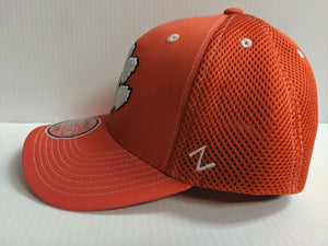 Clemson Tigers Cap Zephyr Orange Pregame 2 Mesh Stretch Fit Fitted ZH Hat