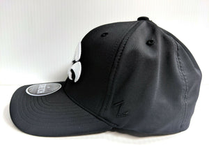Iowa Hawkeyes Cap Zephyr Black Obsidian Stretch Fit Fitted Hat