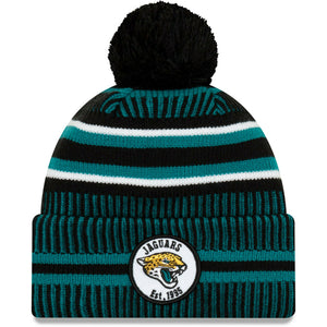 Jacksonville Jaguars Knit Hat New Era 2019 Sport On Field Sideline Home Cap NFL