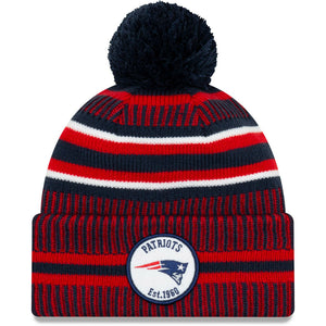 New England Patriots Knit Hat New Era 2019 Sport On Field Sideline Home Cap NFL