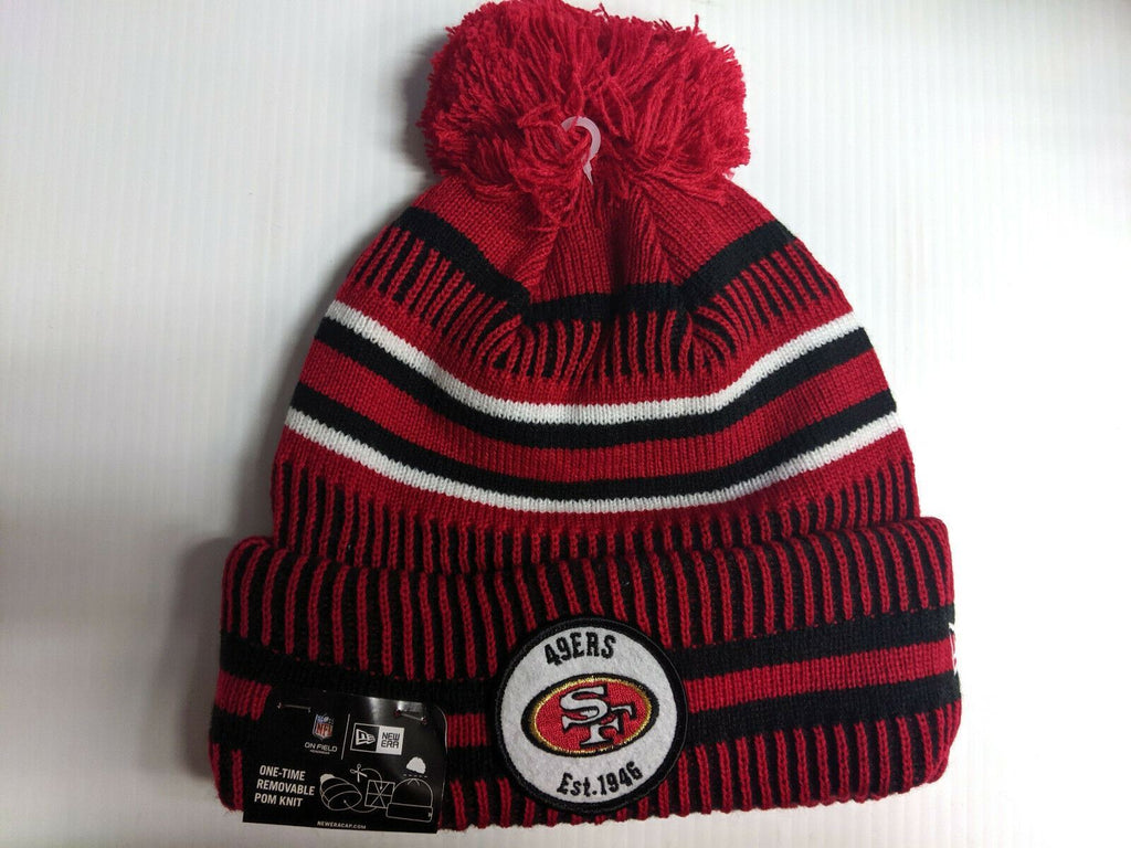 San Francisco 49ers Knit Hat New Era 2019 Sport On Field Sideline Home Cap NFL