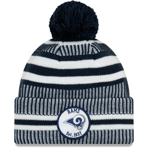 Los Angeles Rams Knit Hat New Era 2019 Sport On Field Sideline Home Cap NFL